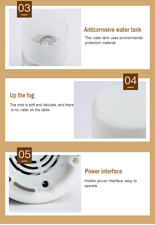 125 ml mini air aroma humidifier for car