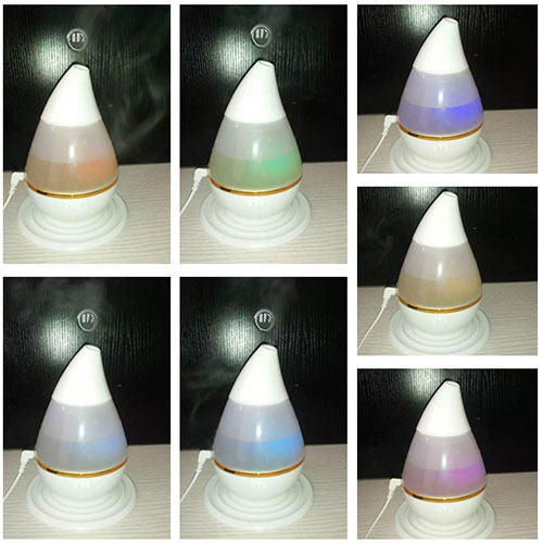 7 colorful lamp water drop 250ml mini USB ultrasonic humidifier