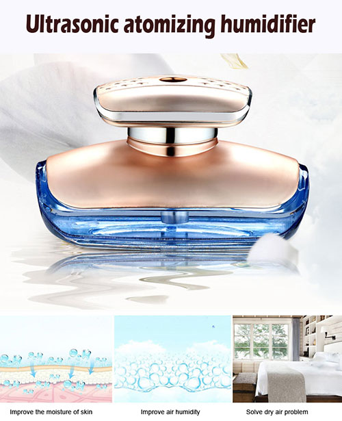 Ultrasonic car air humidifier
