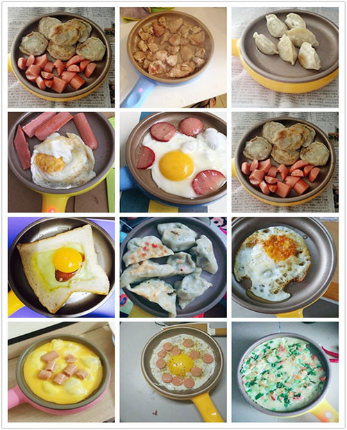 Multiple function electrical egg boiler egg fryer pan