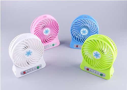 3 gears Rechargeable Li-on battery plastic mini USB fan