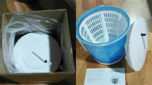 handle operation mini washer and dryer without electrical power