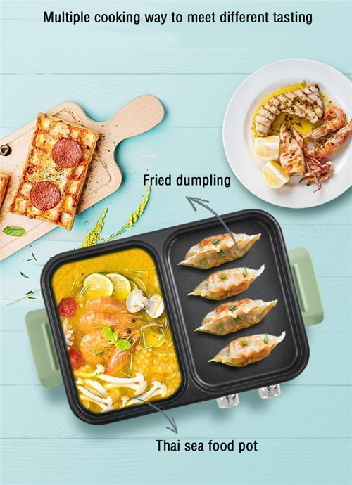 small kitchen appliance electrical hot pot and BBQ griller for householding