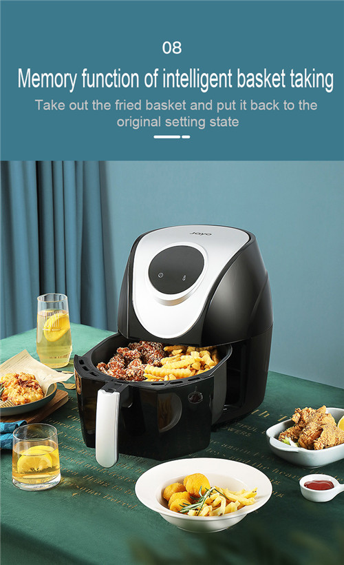 LCD touch screen control 4.5L home electric air fryer with oil free