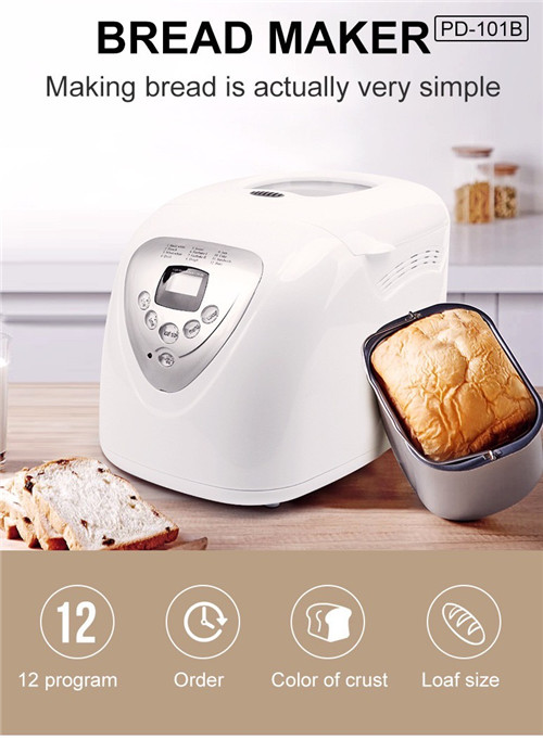 900g large capacity home automatic bread maker