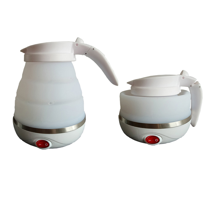 AC100-240V 750ml silicon foldable electrical water kettle for travelling
