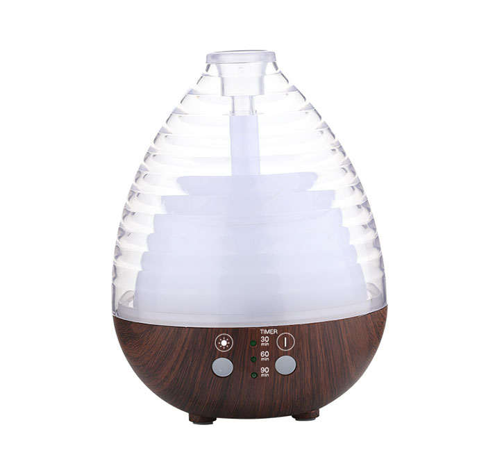 Transparent egg style colorful essential oil diffuser with Bluetooth function