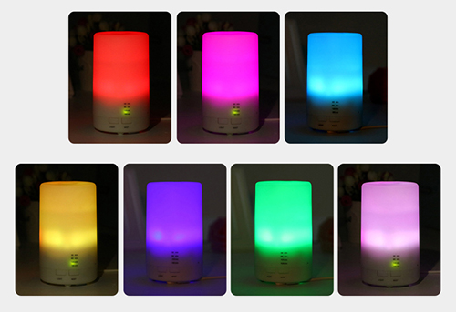 125ml colorful LED light mini car aroma diffuser