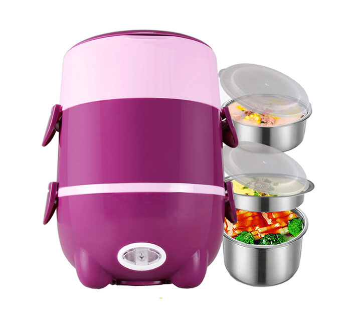 Portable 3 layors electrical steamer cooker