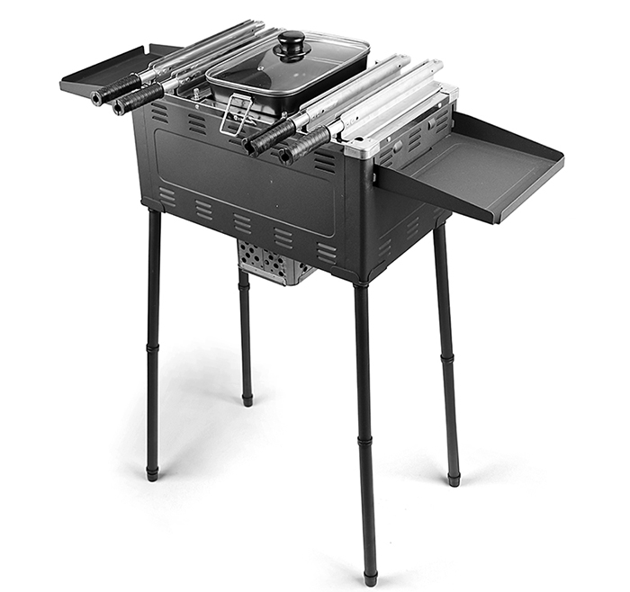 Camping Vertical BBQ  Skewers Barbecue Grill Table for Picnic