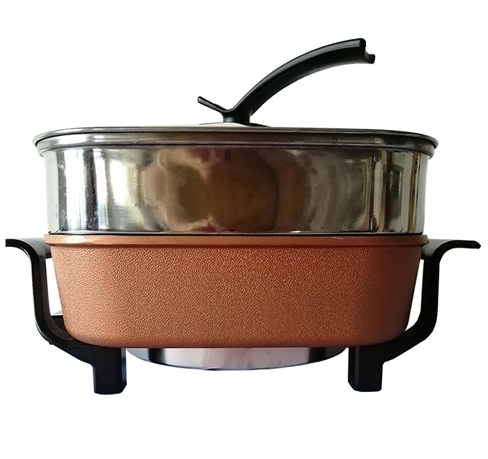 Single deep pot Electrical hot pot and griller