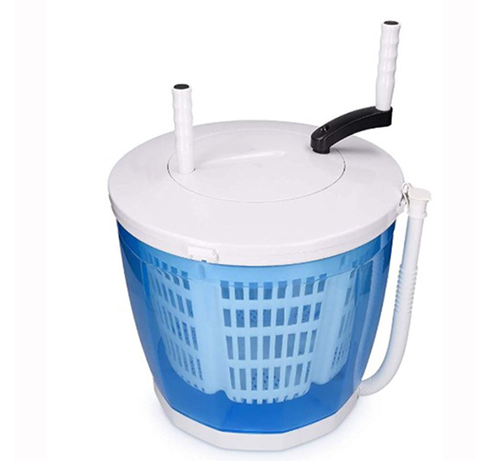 Portable 2 in 1 manual camping mini washing machine